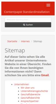 Responsives Vorlagenset für Contentpapst mit Bootstrap